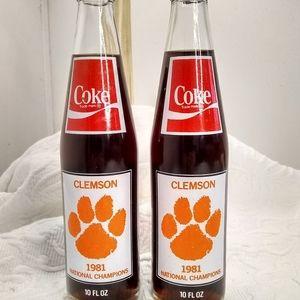 1981 Coke bottles Clemson championship